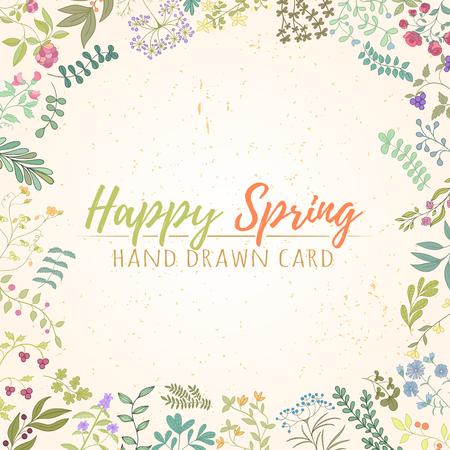 Herb hand drawn card