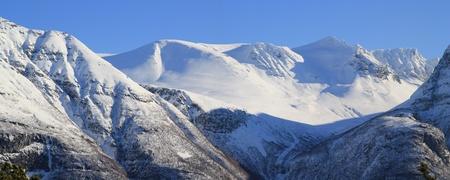 Norwegian mountain panorama photo