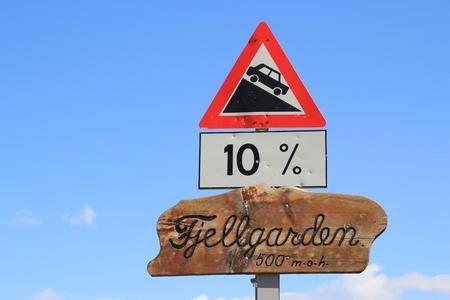 blunder: Norwegian road sign