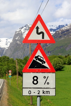 Norwegian road sign Stock Photo - 9611140