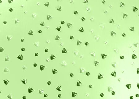 Multi Colored sparkly gemstones on light green background. Glittery pattern for you perfect design.