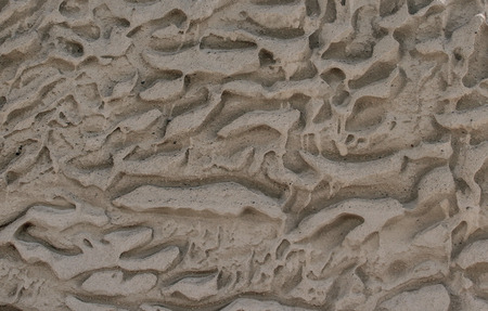 The texture of natural sandstone and its corrosion.