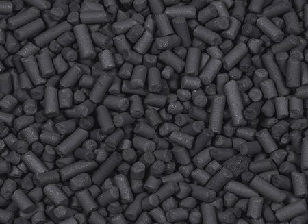 The texture of charcoal granules for igniting barbecue