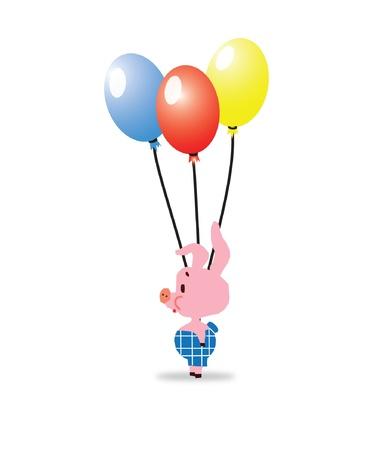 chancho caricatura: Cartoon lech�n de cerdo Vectores