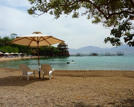 Dolphin reef beach in Eilat photo