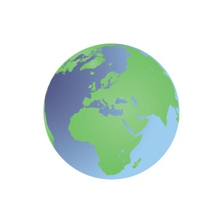 siluet: Planet Earth - globe map