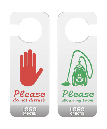 Please do not disturb and please clean my room tags Vector