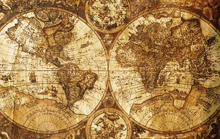 Old world map - vintage design concept
