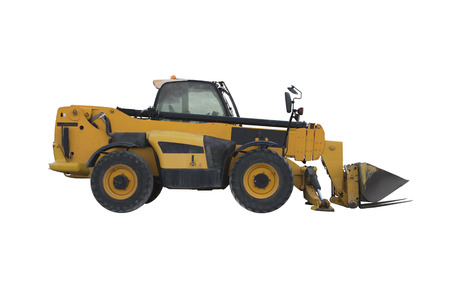 yelloow: Yellow small bulldozer