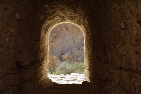 brige: Tap arch under the old bridge in the Negev Israel Stock Photo