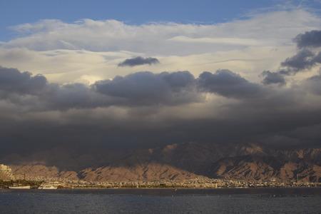 eilat: Eilat beautiful winter day eilat Aqaba view Stock Photo