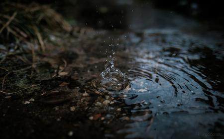 Una gota de agua Foto de archivo - 94042127