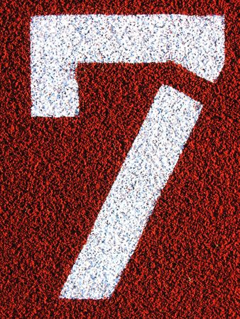 top seven: Stencilled numbers - 7
