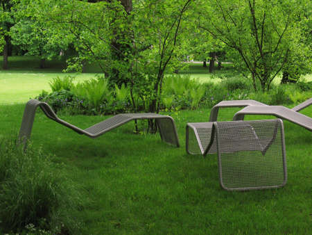 bundesgartenschau: The ideal spot to lie down and come to rest Stock Photo