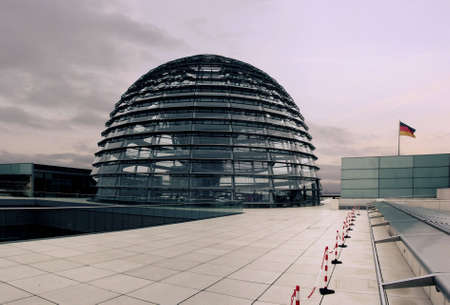 copula: The outside of the Reichstag dome (german parliament)