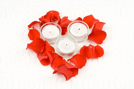 Rose and candles photo