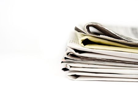 Stack of newspapers Stock Photo - 5476439