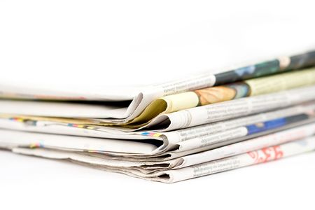 Stack of newspapers Stock Photo - 5476438