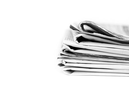 Stack of isolated newspapers in black and white Stock Photo - 4479402
