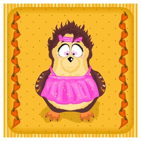 fun owl in the apron