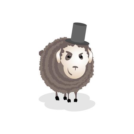 cunning: Sombr�o, el mal, la astucia ovejas en el sombrero