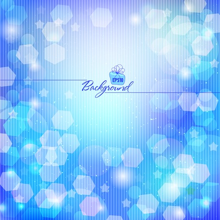 Abstract colored background from glare and transparent circles, glitter