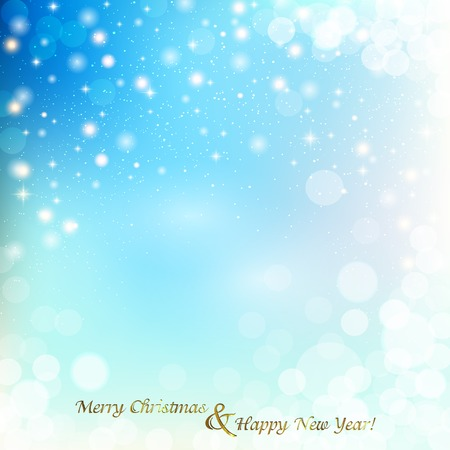 Christmas abstract background with glare, glitter on winter background