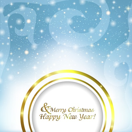 Christmas abstract background with Golden frame for text Vector
