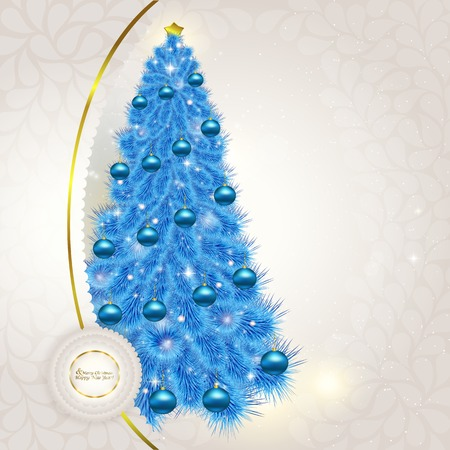 Abstract lace background with Christmas fancy blue herringbone w Vector