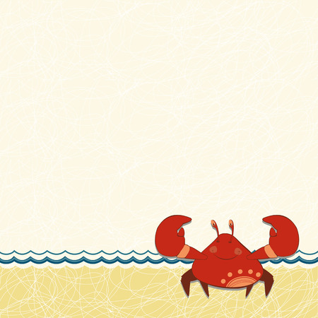 space for images: children frame with red crab
