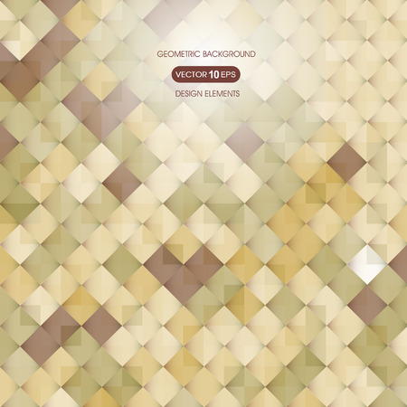 compiled: Abstract beige background with elements of geometry, square Illustration