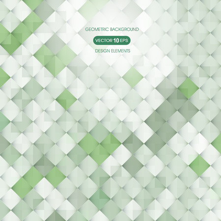 inflame: Abstract green background with elements of geometry, square