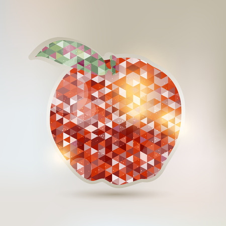 compiled: Abstract Apple with geometric elements Illustration