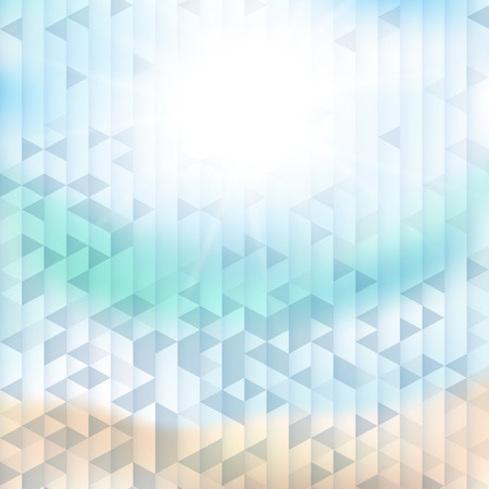 compiled: Abstract sea background with geometric elements Stock Photo