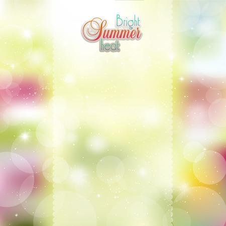 buff: Soleado Verano fondo de flores Vectores