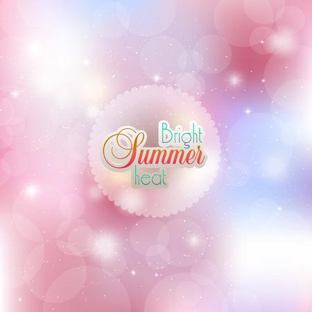 Bright summer background Ilustracja