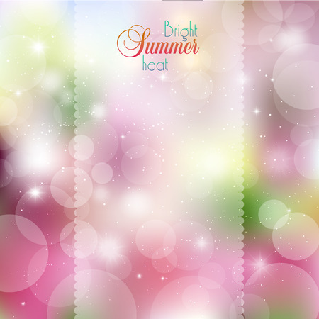 blurring: Abstract floral background with glare and rays