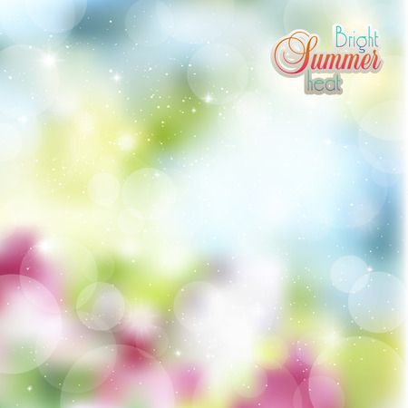 glare: Abstract floral background with glare and rays