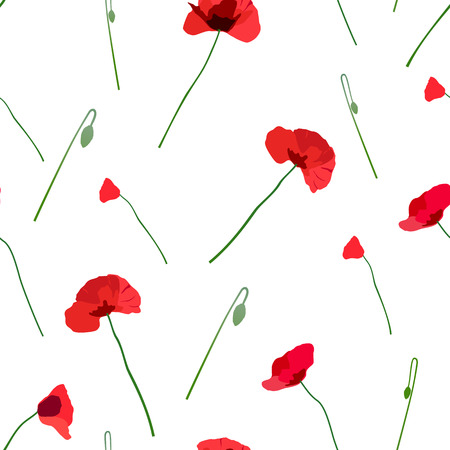 intent: seamless pattern of red flowers