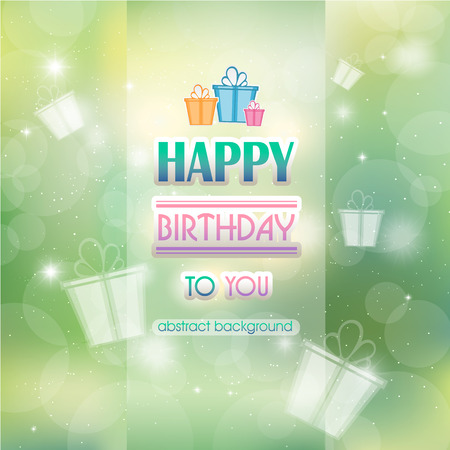 happy birthday text: Abstract background with gifts birthday.  Happy birthday.