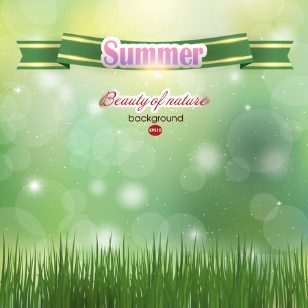 blossomed: Abstract summer background. Summer. Green .