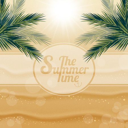 playfulness: Abstract background on a Sunny summer day on the sand under palm