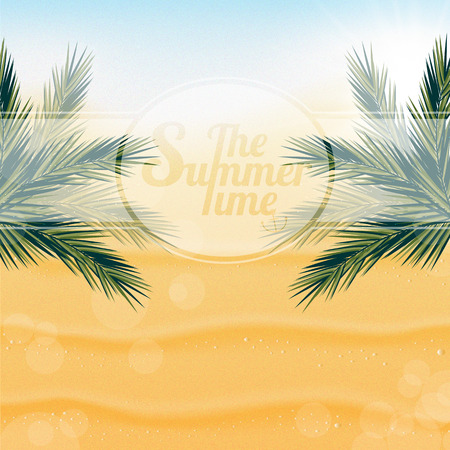 playfulness: Tropical nature, warm Golden sand and the bright