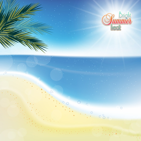 playfulness: Abstract sea background with white sand.