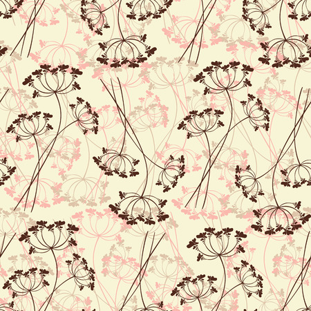 Seamless pattern of stylized flowers.