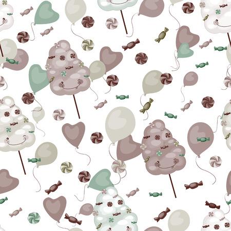 cotton candy: Modelo incons�til de los dulces, algod�n de az�car, paletas Vectores