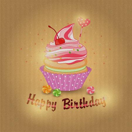 textur: Illustration of a delicious lemon cake for my birthday on textur