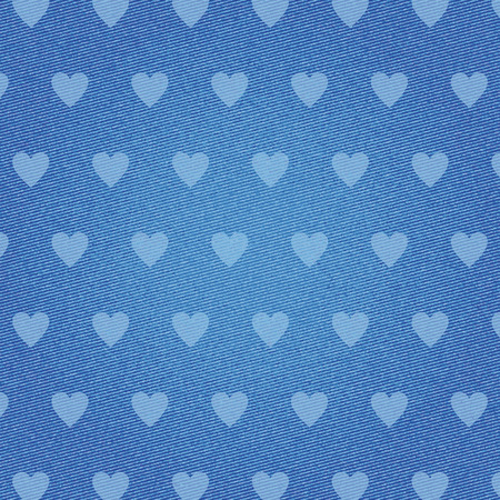 Vector illustration of a denim hearts texture.