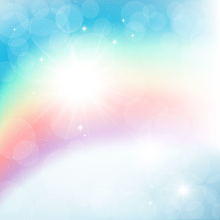 Abstract vector image of the rainbow, bays. Illustration