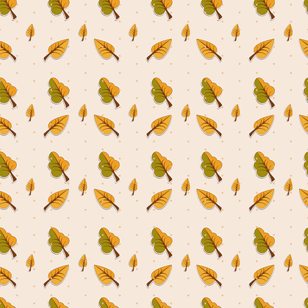 Seamless pattern of autumn leaves.